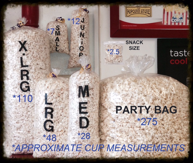 bag sizes